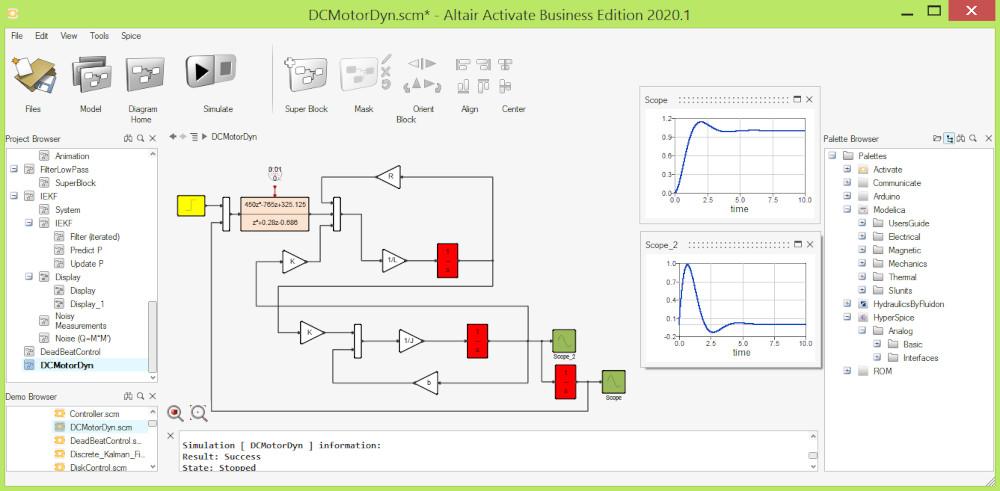 Altair Activate Sinyal Tabanlı Sistem Modelleme