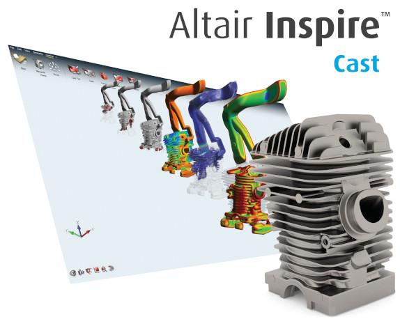 Altair INspire Cast Metal Döküm  Yazılımı Arayüzü