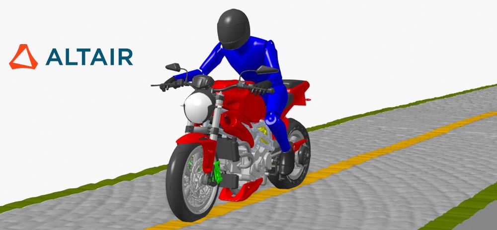 Altair MotionSolve 2020 Motosiklet kütüphanesi