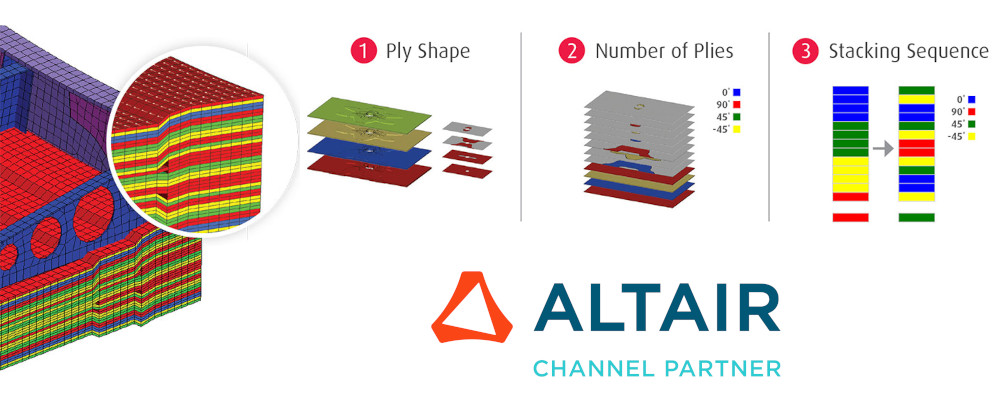 Altair OptiStruct kompozit yapısal optimizasyonu