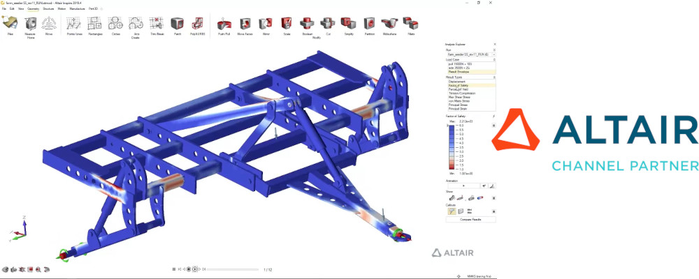Altair SimSolid yapısal analiz